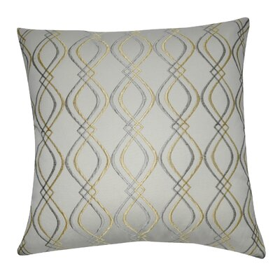 Decorative Cotton Throw Pillow Color: Cream, Gray and Yellow
