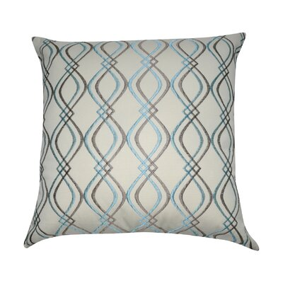Decorative Cotton Throw Pillow Color: Cream, Taupe and Blue