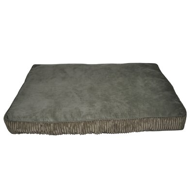 Corduroy Rectangle Dog Bed Color: Green