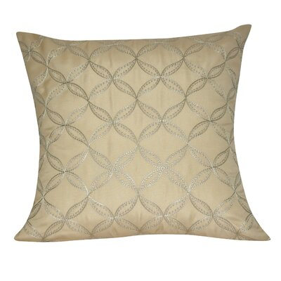 Circles Decorative Throw Pillow Color: Beige