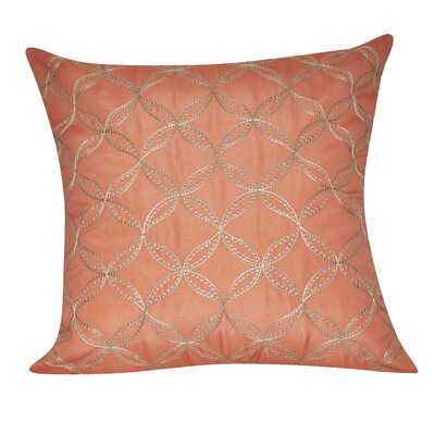 Circles Decorative Throw Pillow Color: Coral