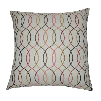 Decorative Cotton Throw Pillow Color: Brown/Gold/Pink