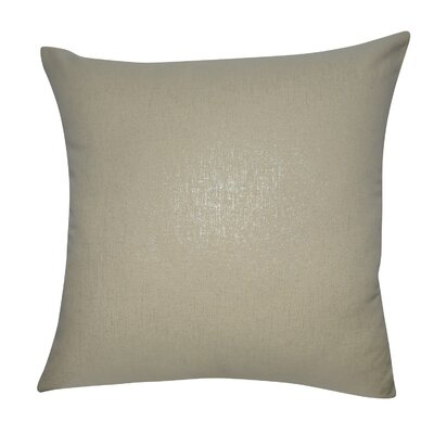 Decorative Throw Pillow Color: Saffron and Silver