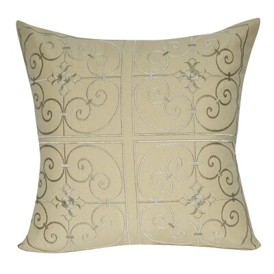 Barrett Floral Embroidered Decorative Throw Pillow Color: Beige