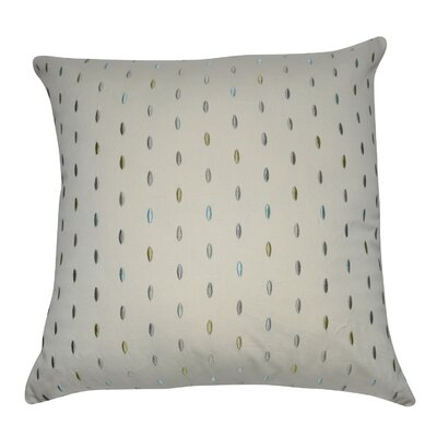 Decorative Cotton Throw Pillow Color: Cream, Green, Gray, Blue, Gray and White