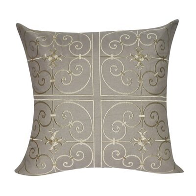 Barrett Floral Embroidered Decorative Throw Pillow Color: Dark Tan