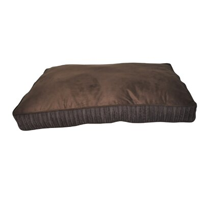 Corduroy Rectangle Dog Bed Color: Dark Brown