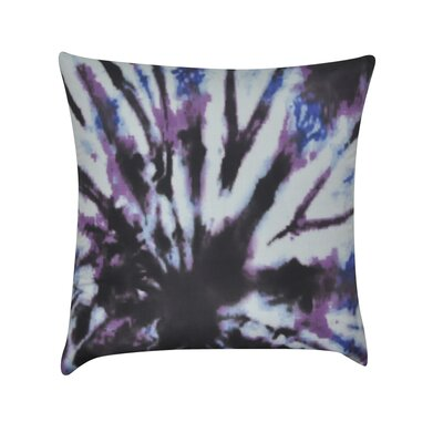 Tie-Dye Decorative Cotton Throw Pillow Color: Purple