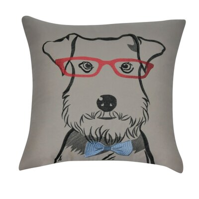 Schnauzer Decorative Throw Pillow Color: Brown