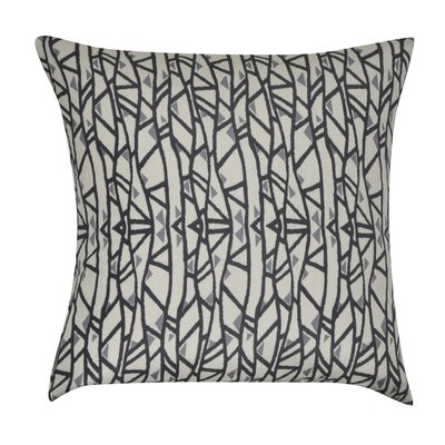 Geometric Decorative Throw Pillow Color: Black