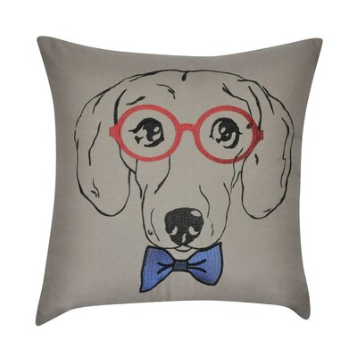 Dachshund Decorative Cotton Throw Pillow Color: Brown
