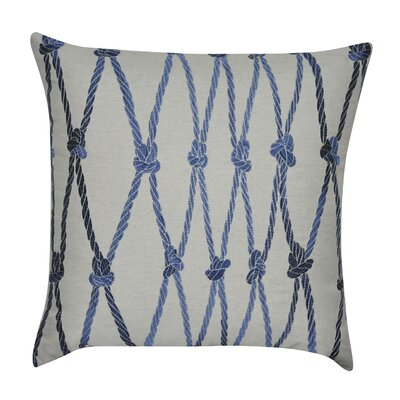Ropes Decorative Cotton Throw Pillow Color: Blue