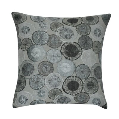 Circles Decorative Throw Pillow Color: Gray