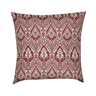 Damask Decorative Throw Pillow Color: Dark Red