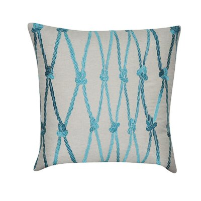 Ropes Decorative Cotton Throw Pillow Color: Teal