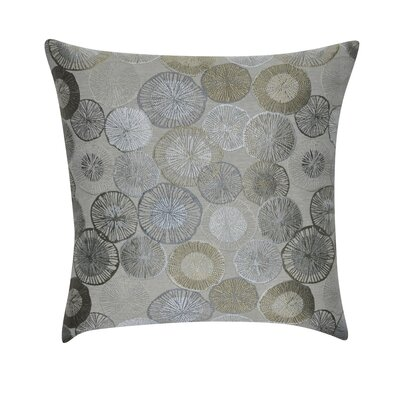 Circles Decorative Throw Pillow Color: Taupe