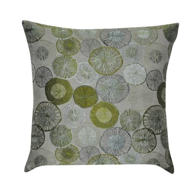 Circles Decorative Throw Pillow Color: Green