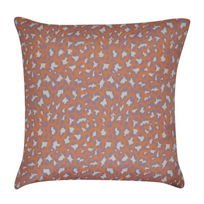 Leopard Decorative Throw Pillow Color: Orange
