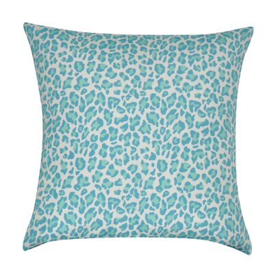 Leopard Decorative Throw Pillow Color: Teal