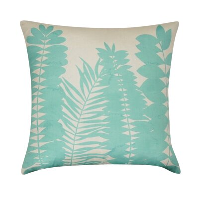 Leaf Decorative Throw Pillow Color: Seafoam