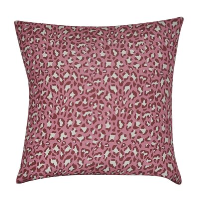 Leopard Decorative Throw Pillow Color: Dark Pink
