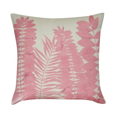 Leaf Decorative Throw Pillow Color: Pink