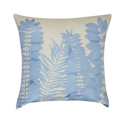Leaf Decorative Throw Pillow Color: Light Blue