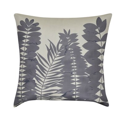 Leaf Decorative Throw Pillow Color: Charcoal
