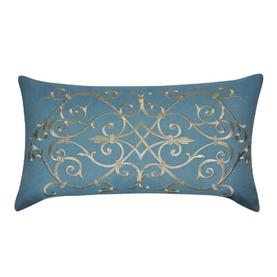 Iron Work Decorative Lumbar Pillow Color: Blue