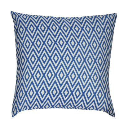Park Avenue Decorative Throw Pillow Color: Blue