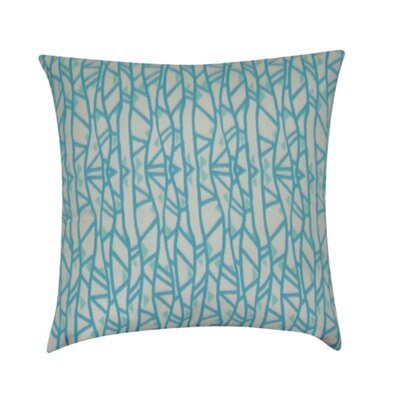 Geometric Decorative Throw Pillow Color: Teal