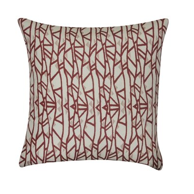 Geometric Decorative Throw Pillow Color: Dark Red