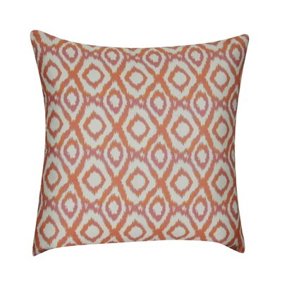 Ikat Diamonds Decorative Throw Pillow Color: Orange