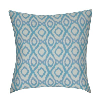 Ikat Diamonds Decorative Throw Pillow Color: Teal