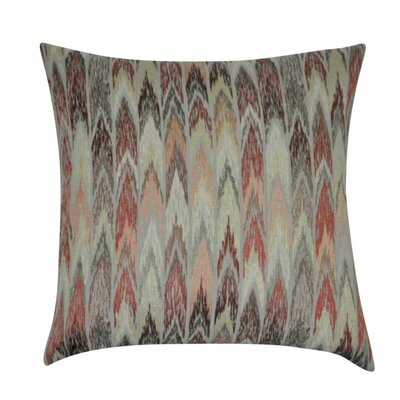 Ikat Decorative Throw Pillow Color: Coral