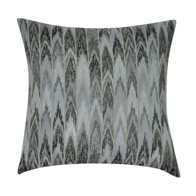 Ikat Decorative Throw Pillow Color: Gray