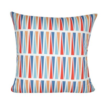 Geometric Decorative Throw Pillow Color: Light Blue