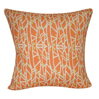 Geometric Decorative Throw Pillow Color: Orange