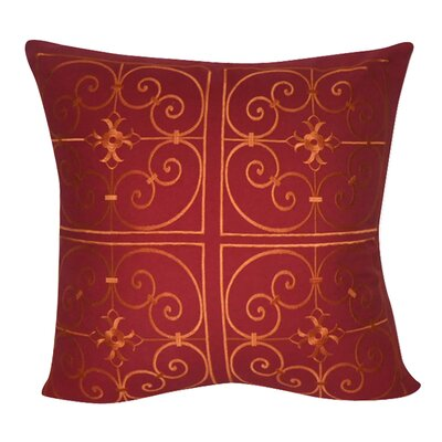 Damask Decorative Throw Pillow Color: Red