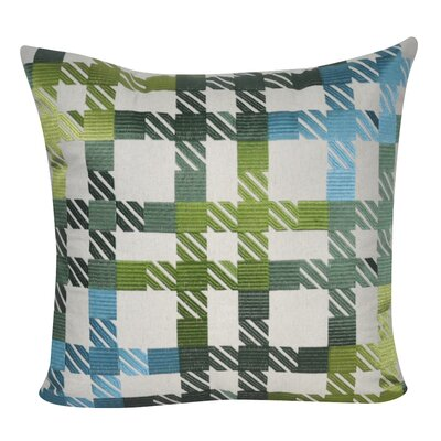 Plaid Decorative Throw Pillow Color: Green