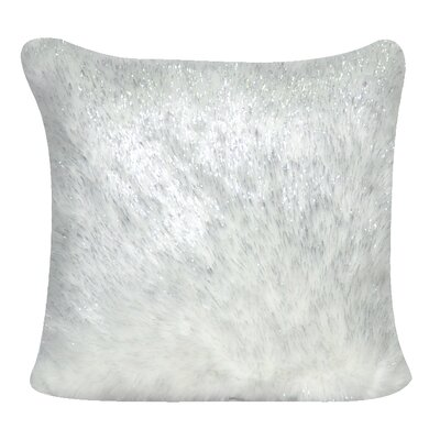 Fur Decorative Throw Pillow Color: White