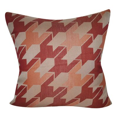 Houndstooth Decorative Throw Pillow Color: Red