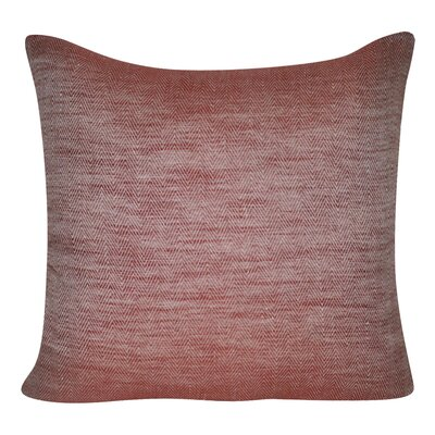 Herringbone Decorative Throw Pillow Color: Red