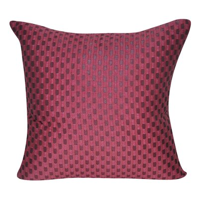 Checkered Decorative Throw Pillow Color: Pink