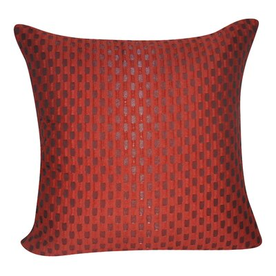 Checkered Decorative Throw Pillow Color: Red