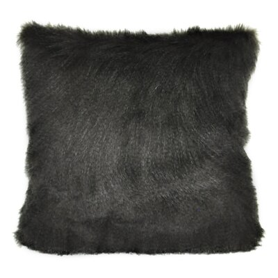 Fur Decorative Throw Pillow Color: Black