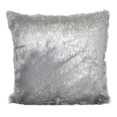 Fur Decorative Throw Pillow Color: Silver