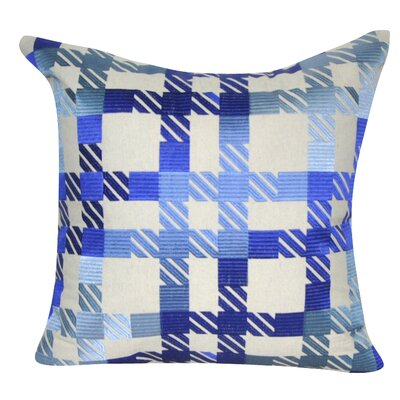 Plaid Decorative Throw Pillow Color: Blue