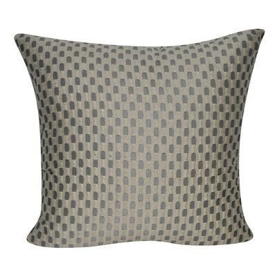 Checkered Decorative Throw Pillow Color: Taupe