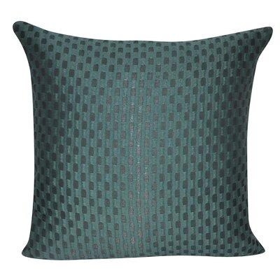 Checkered Decorative Throw Pillow Color: Green